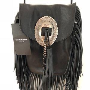 Saint Laurent Fringe Boho Bag - New with Tags